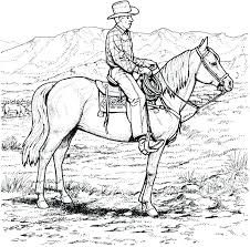 Coloring Pages Cowboy Coloring Pages Free To See Printable Version