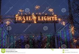 Austin Christmas Light Festival Trail Of Lights Banner Editorial Stock Image Image Of