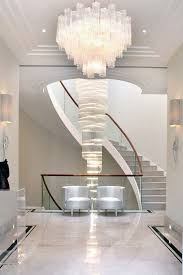london seeded glass chandelier with contemporary hall and stair runners2 x 6 runners staircase curved wall