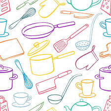 background with kitchen utensils 2 Stock Vector Greyant 70732887