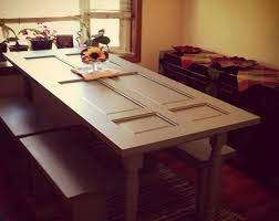 how to make a dining table out of a old door diy and crafts diy outdoor