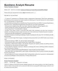Sample Analyst Resume Business Analyst Resume Templates Samples Sample Business Analyst Cv