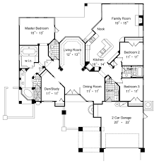 lovey florida style floor plan with formal living room family room and study from