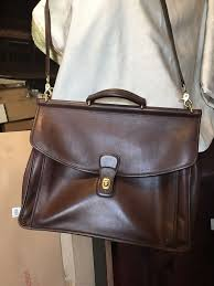 nice condition coach leather briefcase and coach bag