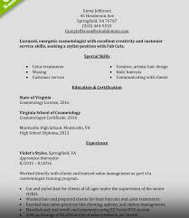 Cosmetologist Resume Cosmetology Resume Samples Example Experienced Hair Stylist 52