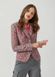 Patterned Blazer Womens Unique Women's Jackets Blazers Emporio Armani