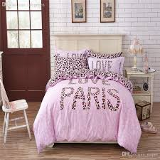 bold design ideas pink leopard print duvet cover whole fashion paris bedding sets without filler for girls queen twin size
