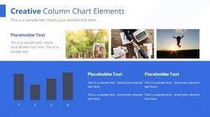 Creative Column Chart Elements Ppt Slidemodel