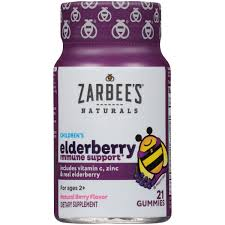Zarbee's Naturals <b>Children's Elderberry Immune Support</b>, Vitamin C ...