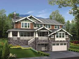 front sloping lot house plans homes