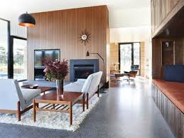 polished concrete floor in house. Polished Concrete Floors Are Rather Cold, So You Can Add Comfy Rugs Floor In House