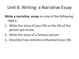 advanced english writing ppt video online  unit 8 writing a narrative essay