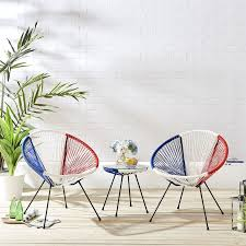 seater rattan bistro table