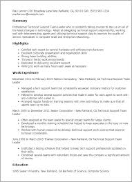 ... Gorgeous Inspiration Team Leader Resume 15 Professional Technical  Support Team Leader Templates To Showcase ...