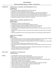 Production Resume Examples Production Assembly Resume Samples Velvet Jobs