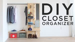 Building closet shelves Built Diy Closet Organizer Youtube Diy Closet Organizer Youtube
