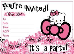 Hello Kitty Party Invitation Birthday Invitation Hello Kitty Background Hello Kitty Party