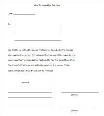 Eviction Notices Template Notice Of Eviction Letter Template learnhowtoloseweightnet 40