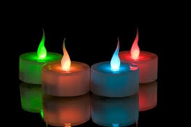 Color Changing Battery Tea Lights Smart Candle Tea Light Colour Change Led Flame Sc3684cc