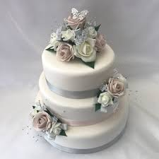 Artificial Wedding Cake Topper Butterfly 3 Piece Beautiful Bouquets