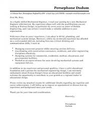Mechanical Engineer Cover Letter Examples For Engineering For
