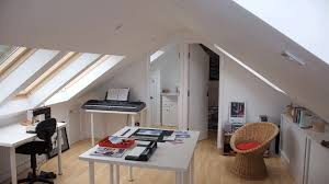 loft home office. contemporary office restyle  yorskshire loft conversion sheffield office on home