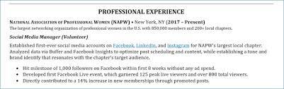 Volunteer Experience On Resume Examples Igniteresumes Com