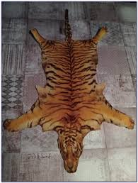 tiger skin rug with head fake