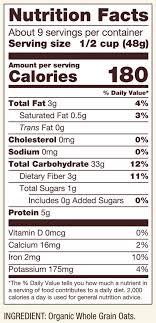 organic regular rolled oats