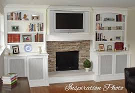 put a little my sister39s family room built in shelves around fireplace