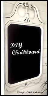 old mirror transformed into chalkboard with diy chalkpaint