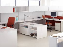 white wood office furniture. Furniture, Simple White Wooden Laminate Office Table Stainless Steel Arc Lamp Woven Curtain Wood Furniture
