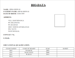 Bio Data Formate Biodata Form Sample Templates Free Word Pdf Examples
