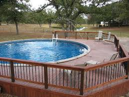 Wooden Pool Decks Furniture Save Your Cost Of Regular Swimming Pool At Home With
