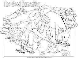Good Samaritan Coloring Page Good Coloring Sheet Parable Pages Of