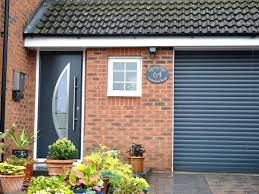 grey garage doors entrance door style in anthracite grey with matching roller garage door anthracite grey
