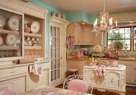 ... retro kitchen decor chandelier shabby chic chairs wall unit 50s pin up  ...