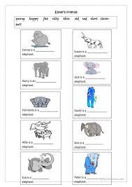 Reflexive Pronouns Worksheets English Adjectives For Kindergarten ...