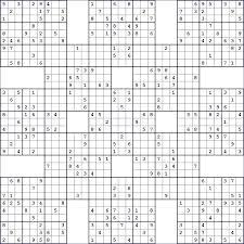 Blank Samurai Sudoku Template Brayzen Co