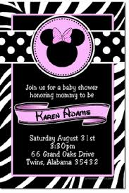 minnie mouse invitation template baby shower invitations design your own baby shower cards do it
