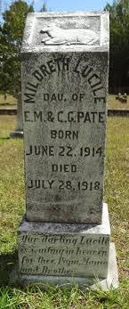 Mildreth Lucille Pate (1914-1918) - Find A Grave Memorial
