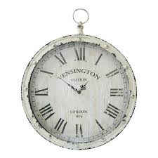 pocket watch wall clock large silver black