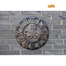 whole handmade oversized 3d retro rustic decorative luxury art big gear wooden vintage large wall clock extra large modern wall clocks extra large