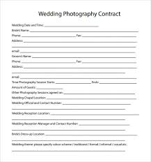 Simple Photography Contract Rome Fontanacountryinn Com