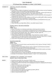 Instructional Designer Resume Training Designer Resume Samples Velvet Jobs 73