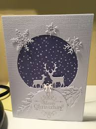 Scrapbooking Christmas Cards Designs White Deer Card Stamped Christmas Cards Homemade