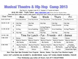 Summer Daily Schedule Template Day Camp Schedule Template Sample Camp Daily Activity Schedule