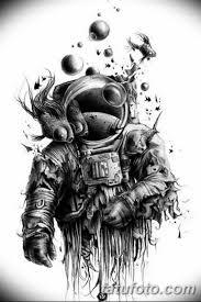 черно белый эскиз тату рукав на руку 11032019 043 Tattoo Sketch