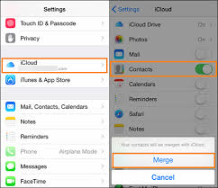 sync icloud contacts