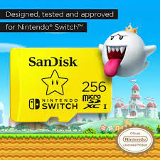 Thẻ Nhớ SanDisk 256GB MicroSDXC UHS-I Memory Card cho Nintendo Switch -  SDSQXAO-256G-GNCZN - LuxStore.Com
